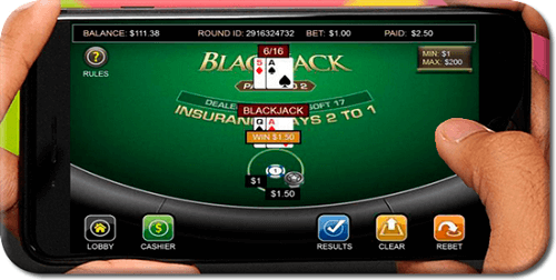 Blackjack game for mobile casinos