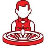 live dealer casino icon