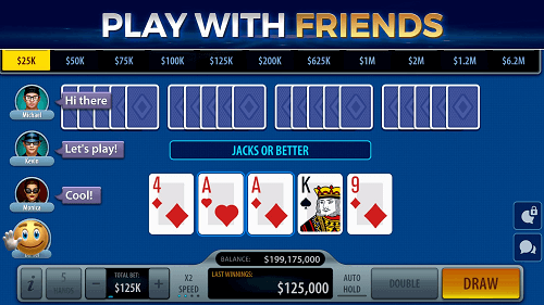 video poker friends